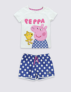 Pure Cotton Peppa Pig™ Stay Soft Short Pyjamas (1-7 Years)
