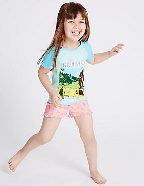 The Gruffalo Short Pyjamas (1-8 Years), BLUE MIX, catlanding