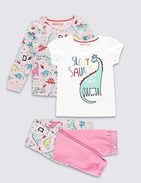 Lot de 2pyjamas à motif dinosaures (du 9mois au 8ans), ROSE ASSORTI, catlanding