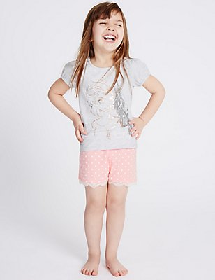 Disney Frozen Short Pyjamas (1-10 Years), GREY MIX, catlanding