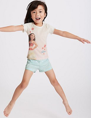 Moana Pure Cotton Short Pyjamas (1-10 Years), PINK MIX, catlanding