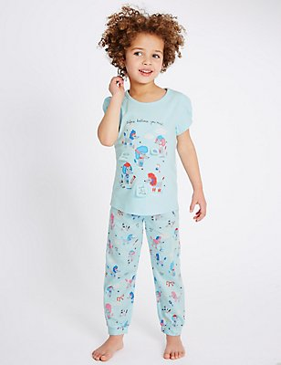 Pure Cotton Pyjamas (9 Months - 8 Years), BLUE MIX, catlanding
