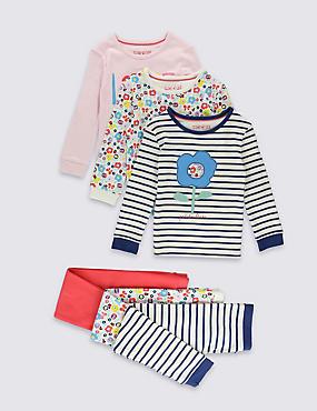 3 Pack Assorted Pyjamas (9 Months-8 Years), MULTI, catlanding