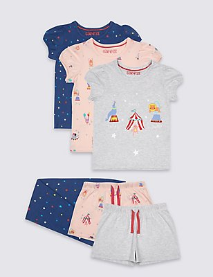 3 Pack Circus Pyjamas (9 Mths - 8 Yrs), MULTI, catlanding