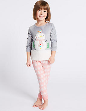 Snowman Pyjamas (9 Months - 8 Years), WHITE MIX, catlanding