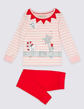 Printed Pyjamas with Tutu (9 Months - 8 Years), PINK MIX, catlanding