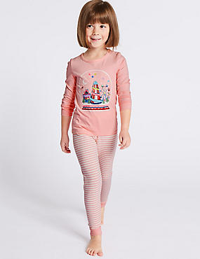 Fairground Long Sleeve Pyjamas (9 Months - 8 Years), PINK MIX, catlanding