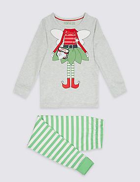 Elf Pyjamas (9 Months - 8 Years), GREEN MIX, catlanding