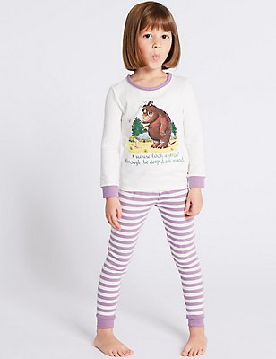 Gruffalo™ Pyjamas with Stretch (1-8 Years), LILAC, catlanding