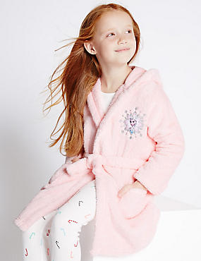 Disney Frozen Long Sleeve Dressing Gown (1-10 Years), PINK, catlanding