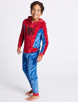 Spiderman™ Hooded Onesie (4-16 Years), RED MIX, catlanding
