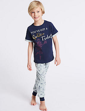 Charlie and Lola™ Printed Pyjamas (3-10 Years), DARK BLUE MIX, catlanding