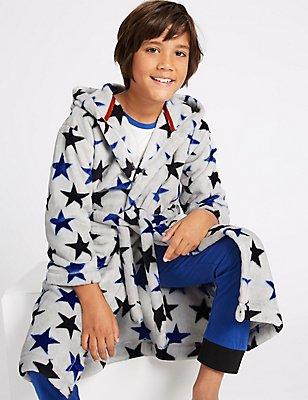 Robe de chambre à capuche avec ceinture (du 1 au 16ans), GRIS ASSORTI, catlanding