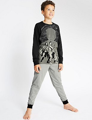 Long Sleeve Star Wars™ Pyjamas (4-16 Years), GREY MIX, catlanding