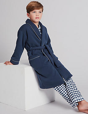 Dressing Gown with Belt (1-16 Years), INDIGO, catlanding