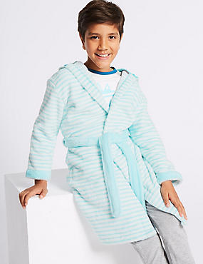 Monster Dressing Gown with Belt (1-8 Years), BLUE MIX, catlanding