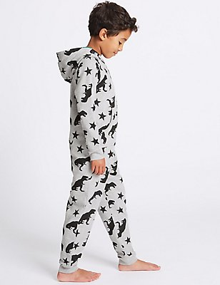 Pure Cotton Printed Onesie (1-16 Years), GREY MIX, catlanding