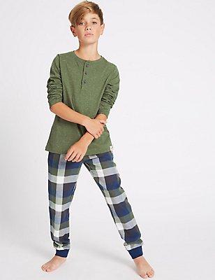 Pyjama à manches longues (du 7 au 16ans), VERT ASSORTI, catlanding