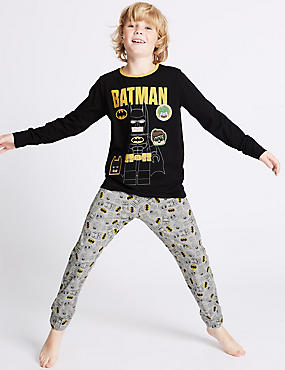 Batman™ Long Sleeve Pyjamas (3-14 Years), BLACK MIX, catlanding