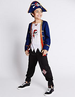 Pirate Boy Costume (3-12 Years), NAVY MIX, catlanding