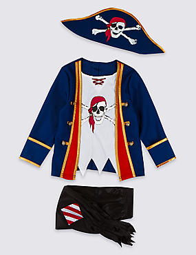 Pirate Boy Costume (3-12 Years)