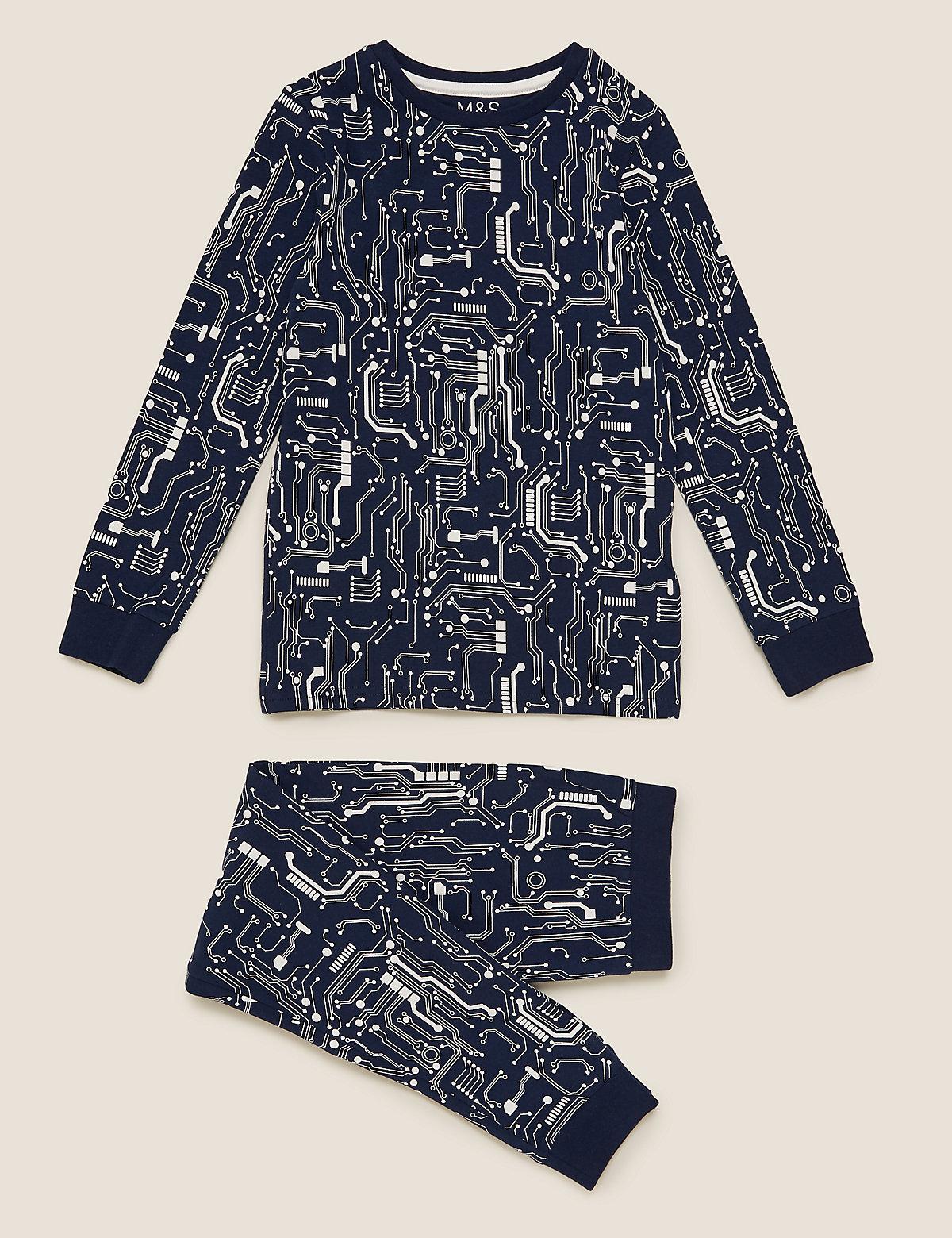 Хлопковая пижама с узором Электрические схемы