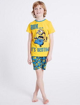 Despicable Me™ Minions Short Pyjamas (3-14 Years), YELLOW MIX, catlanding