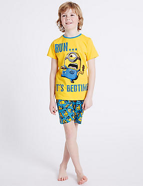 Despicable Me™ Minions Short Pyjamas (3-14 Years), YELLOW MIX, catlanding