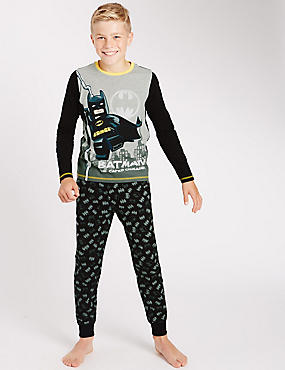 Lego® Batman Long Sleeve Pyjamas (4-14 Years), BLACK MIX, catlanding