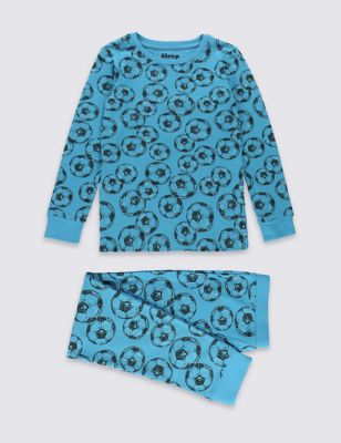 """Хлопковая пижама скинни """"Футбол"""" для мальчика 1-16 лет от Marks & Spencer"""