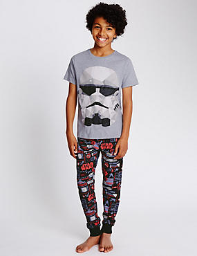 Star Wars™ Storm Trooper Pure Cotton Stay Soft Pyjamas (5-14 Years)