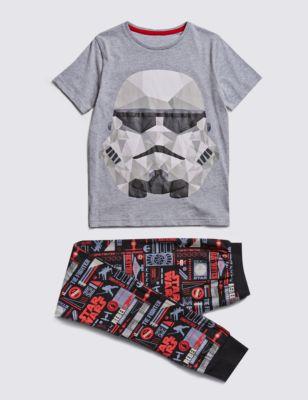 Мягкая пижама из чистого хлопка Star Wars™ Storm Trooper для мальчика 5-14 лет от Marks & Spencer