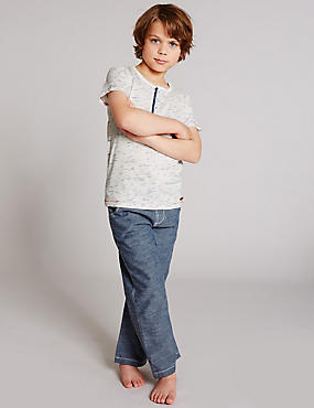 Short Sleeve Pyjamas (1-16 Years), BLUE MIX, catlanding