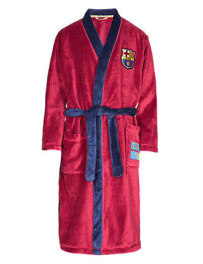 Barcelona F.C. Dressing Gown with StayNEW™ Clothing