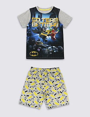 Lego Batman™ Short Pyjamas (3-14 Years), BLACK MIX, catlanding