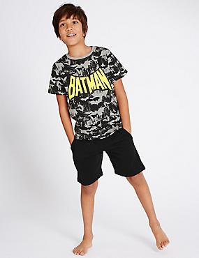 Batman™ Short Sleeve Pyjamas (1-16 Years), BLACK MIX, catlanding