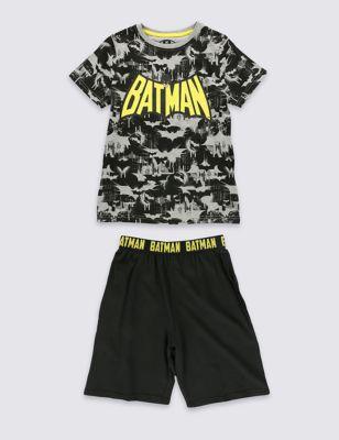 Короткая пижама с монохромным дизайном Batman™ для мальчика 1-16 лет T865815C
