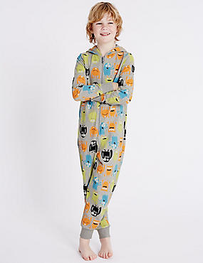 Pure Cotton Monster Onesie (1-16 Years), MULTI, catlanding