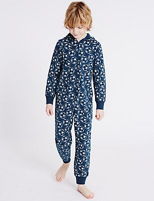Pure Cotton Printed Onesie (1-16 Years), NAVY MIX, catlanding