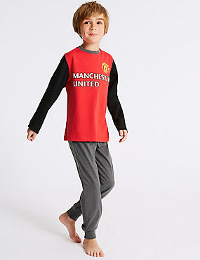 Manchester United™ Long Sleeve Pyjamas (3-16 Years), RED MIX, catlanding