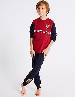 Pyjama 100% coton à motif FC Barcelona™ (du 3 au 16ans), VIOLET ASSORTI, catlanding