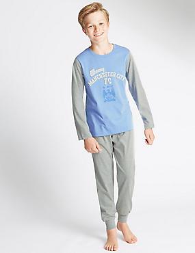 Man City Pyjamas (3-16 Years), BLUE MIX, catlanding