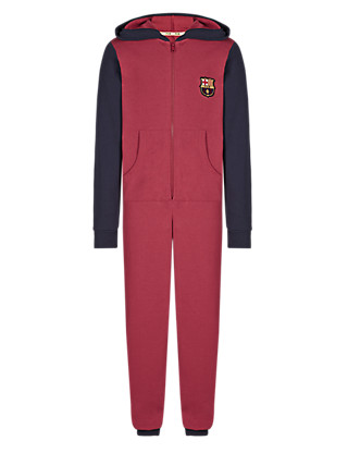 Pure Cotton Barcelona Football Club Onesie (3-16 Years) Clothing