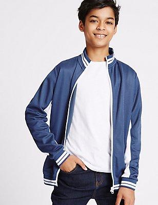 Cotton Rich Jacket (3-14 Years), DARK INDIGO, catlanding