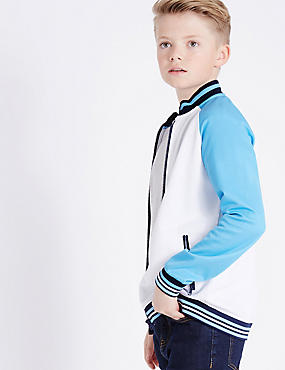 Cotton Rich Sweatshirt (3-14 Years), WHITE MIX, catlanding