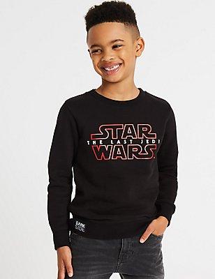 Katoenrijke Star Wars™-sweater (3-14 jaar), MIDDEN GRIJS, catlanding
