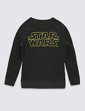 Star Wars™ Sweatshirt with Cotton (5-14 Years), GREY MIX, catlanding