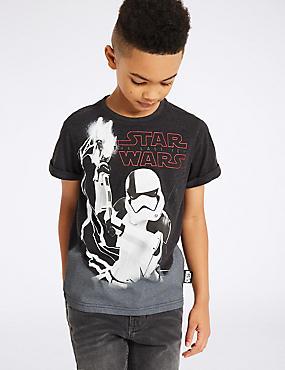 T-shirt en coton à motif Star Wars™ (du 3 au 14ans), GRIS CHINÉ INTERMÉDIAIRE, catlanding