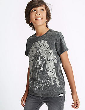 Cotton Blend Star Wars™ Top (3-14 Years), GREY MIX, catlanding