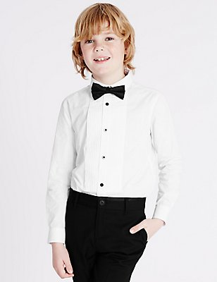 2 Piece Shirt with Bow Tie (3-14 Years), WHITE MIX, catlanding
